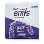 Retainer Brite - Tablette Nettoyante pour Appareil Dentaire contre La Plaque et le Tartre - Boite de 36 de la marque Retainer Brite image 1 produit