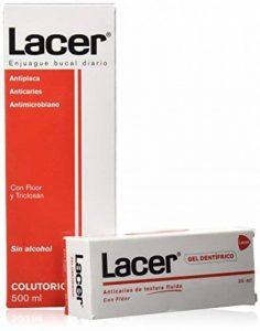 RINCER ORAL ANTIPLAQUE ANTICARIES SANS ALCOOL RINCE-BOUCHE 500ML + GELS DENTIFRICE 35ML de la marque Lacer image 0 produit