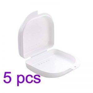 ROSENICE Boîte de Dentier Boîte de rangement pour appareil dentaire Protège-dents Prothèse 5 Pièces (Blanc) de la marque ROSENICE image 0 produit
