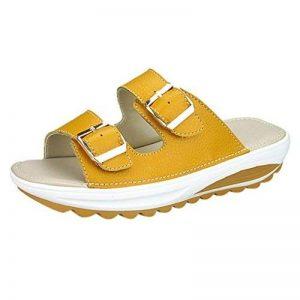Sandales Peu Profondes, GreatestPAK Femme d'été Décontracté Plage Populaire Pantoufle Peep Toe Plateforme Chaussures Souples de la marque GreatestPAK_Chaussures image 0 produit