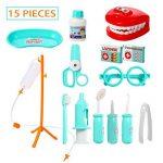 ThinkMax 15 Pcs Doctor Play Set, kit de dentiste en plastique, kit de jeu de rôle de jouets médicaux pour les enfants et les enfants de la marque ThinkMax image 1 produit