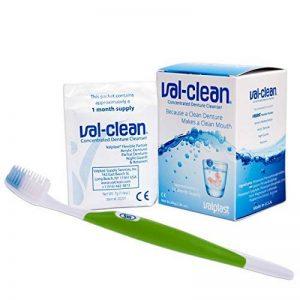 Val Clean Sachets et Brosse en Silicone ? 12 Sachets Nettoyants pour un An pour Dentiers Flexibles Valplast (Brosse verte) de la marque Dental Aesthetics image 0 produit