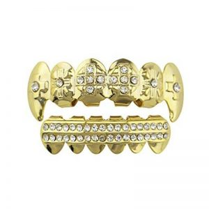 WanYang Diamants Marqueté Portable Hip Hop Plaqué Or Dentures Fausses Dents Bijoux Fantaisie Créatif Cadeau de la marque WanYang image 0 produit