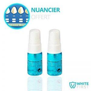 WHITE FIRST - Prétraitement spray activateur anti-tache + Parfait pour un prétraitement de branchiment dentaire - à appliquer sur une brosse à dent et se brosser les dents pendant 1 à 3 minutes avant un traitement de blanchiment dentaire de la marque Whit image 0 produit