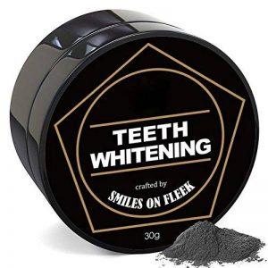 Woya poudre blanchiment dentaire charbon au actif naturel dent blanche dentifrice de bambou de la marque Woya image 0 produit