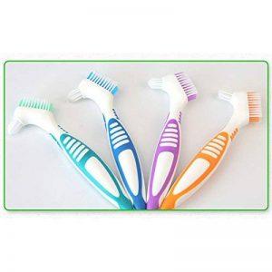 Zantec Portable ergonomique Brosse de nettoyage pour dentier multi-couches Poils Faux Brosse à dents Oral Care Outil de la marque Zantec image 0 produit